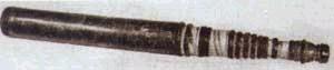 Зрительная труба работы русского оптика И.И.Беляева, выполненная им в середине XVIII в. по расчетам М.В.Ломоносова
