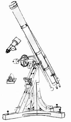 """Телескоп-рефрактор Й.Фраунгофера """"Большой Фраунгофер"""" (1824 г.)"""