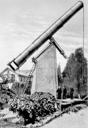 Общий вид Пулковского рефрактора А.Кларка (1883 г.)