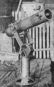 120-миллиметровый самодельный телескоп-рефлектор с часовым механизмом без червячной пары