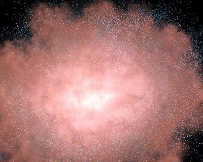 """""""Пыльная"""" галактика, изображение с сайта spitzer.caltech.edu"""