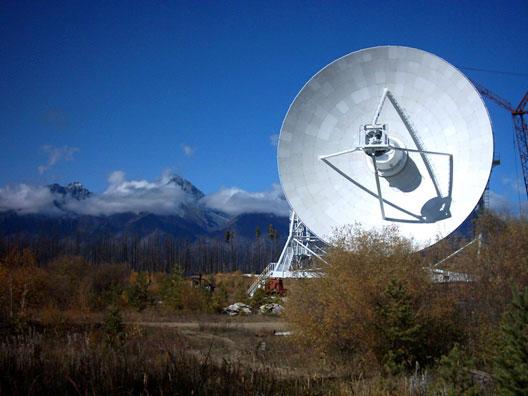 32-м антенна в Бадарах на территории полигона ИСЗФ СО РАН