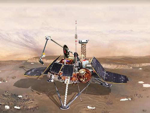 Mars Polar Lander. Изображение с сайта mars.jpl.nasa.gov