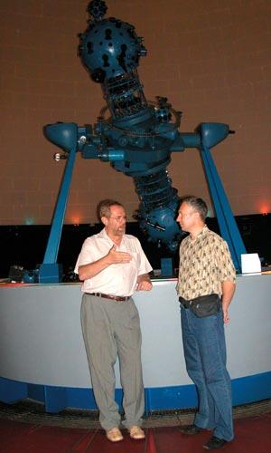 С директором планетария д-ром Андрешем Хорватом