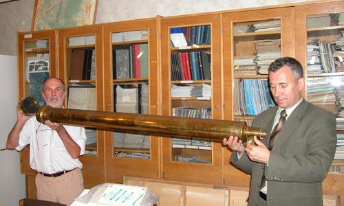 Автор с директором обсерватории Урания Отто Зомбори