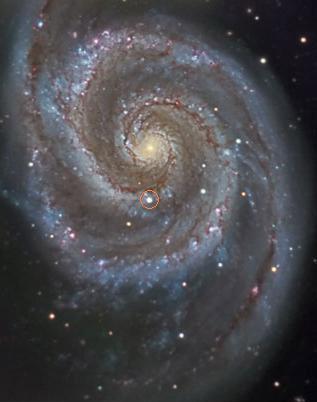 Рисунок 3. Сверхновая 2005CS в М51 (Гончие Псы) Автор: R.J. Gabani cosmotography.com