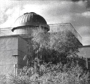 Купол обсерватории планетария: Омский городской Дворец творчества детей и юношества