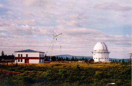Обсерватория Института Солнечно-Земной Физики (ИСЗФ) Сибирского отделения РАН, где установлен телескоп АЗТ-33ИК