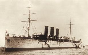 """Учебное судно """"Океан"""", оснащенное первыми русскими морскими оптическими приборами."""
