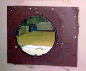 Главое зеркало телескопа (диаметр 370 мм)