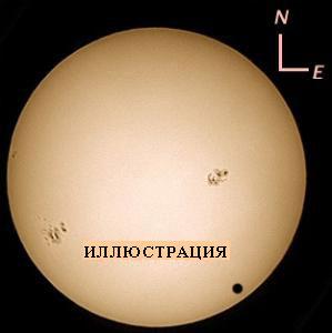 Как будет выглядеть фото Венеры во время прохождения по диску Солнца