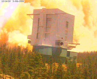 Пожар возле Маунт-Грэхемской международной обсерватории
