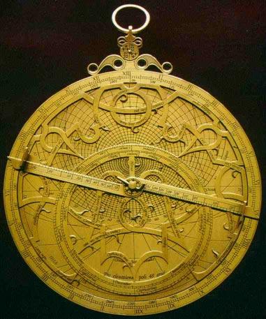 Лицевая сторона астролябии Арсениуса 1550 года