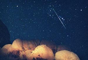 Метеор потока Персеид в Орионе