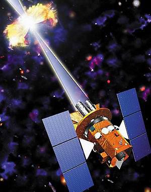 Новый спутник исследует вспышку. Это позволит получить массу полезной информации о таинственных взрывах.
