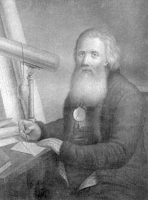 Портрет Кулибина с телескопом