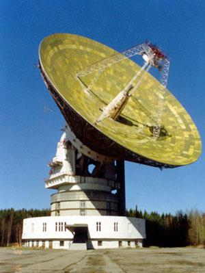 Приемная 64-м антенна в Медвежьих Озерах, Подмосковье