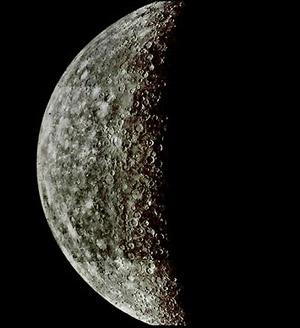 Вид Меркурия. фото NASA