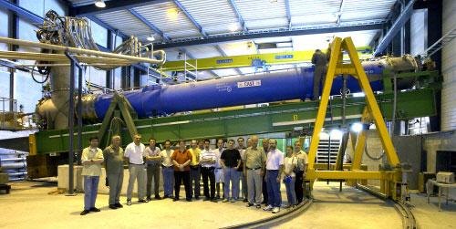 Команда телескопа CAST (CERN Axion Solar Telescope).