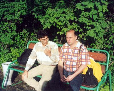 Мансур Ибрагимов и Игорь Молотов во дворе ГАИШ, «ВАК-2004».